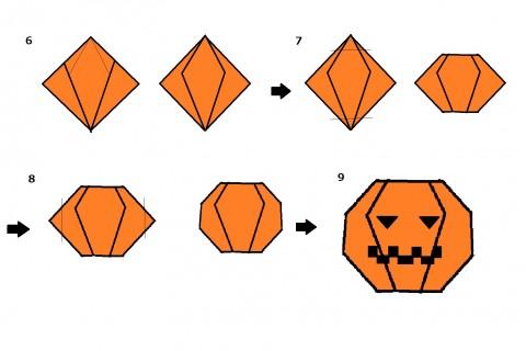 カボチャの折り方④