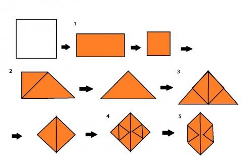 カボチャの折り方①