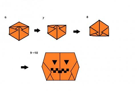 カボチャの折り方②